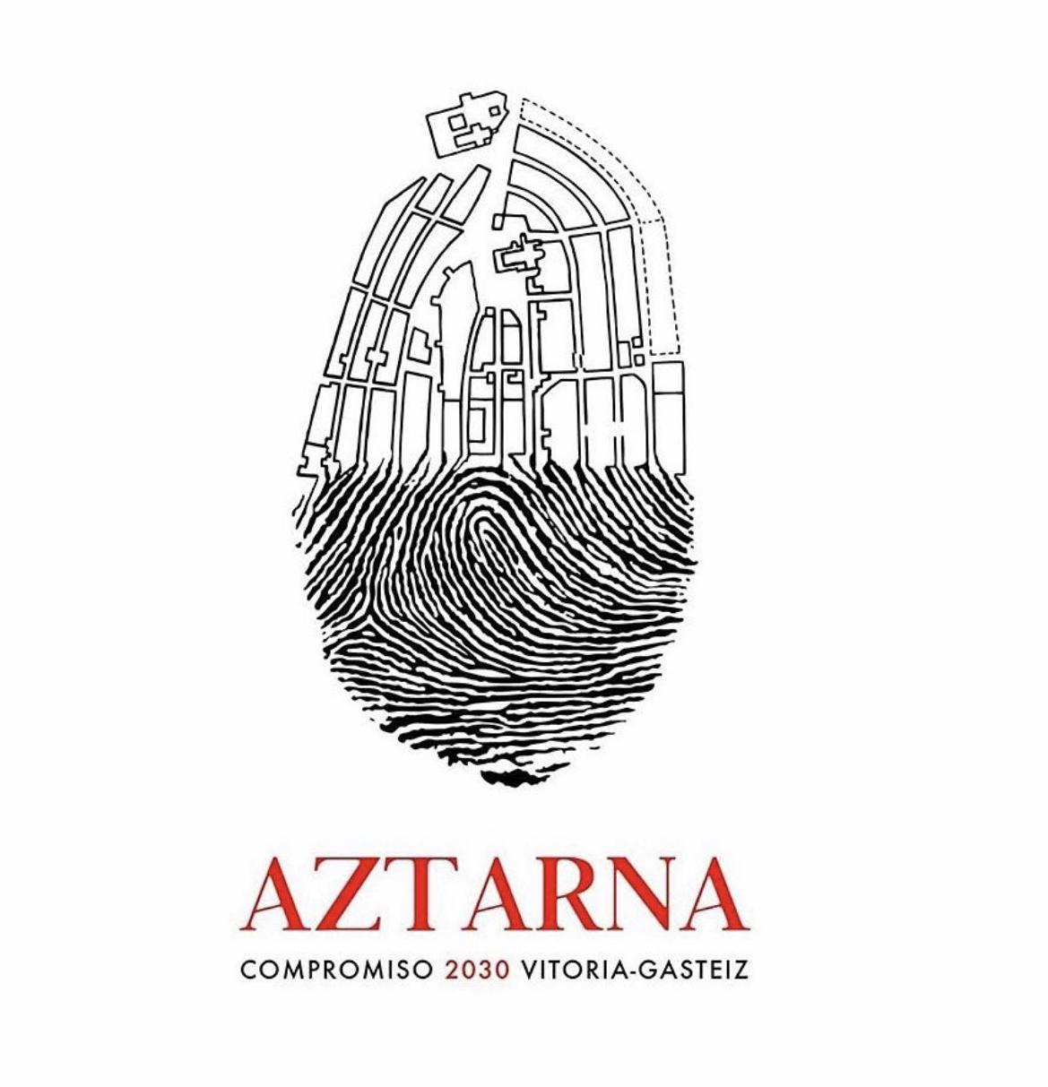 Logotipo Aztarna. Proyecto colaboración ciudadana (Vitoria-Gasteiz)