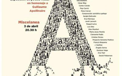 Exposición conjunta. Nudo festival poesía visual.»Caligrama, la odisea de la letra» homenaje  Guillaume Apollinaire.